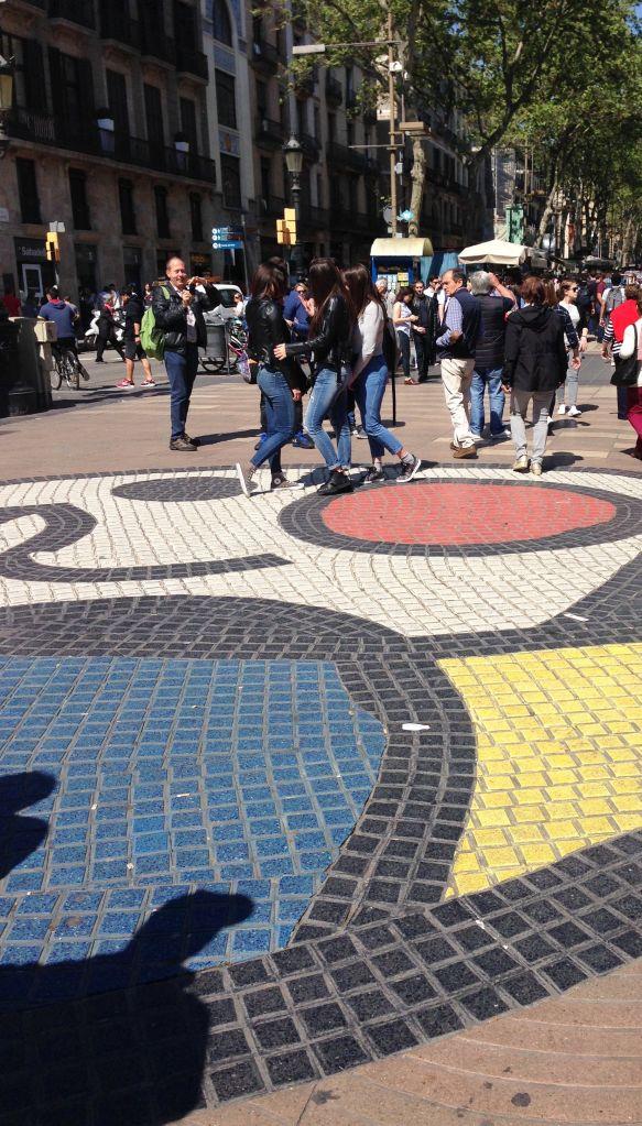 Joan Miro sidewalk mosaic