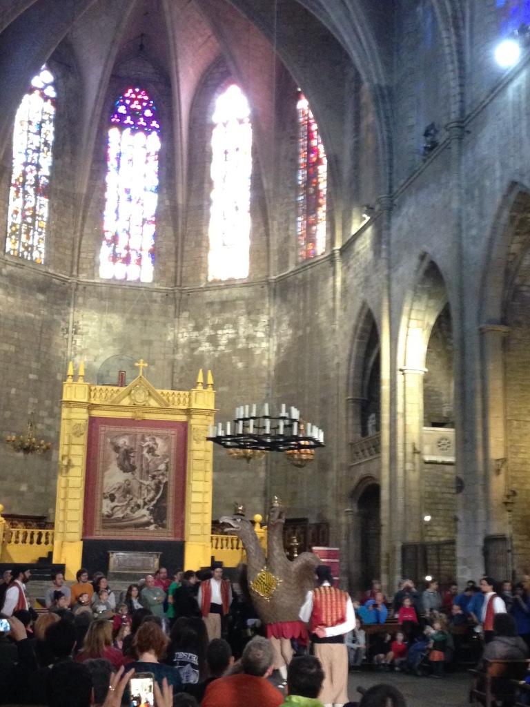 Eagle of Barcelona performs in Santa Mari de Pi