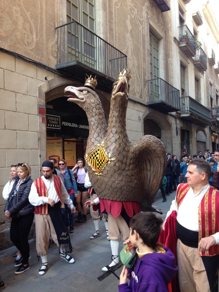 Eagle of Barcelona in Festes de San Jose Oriol